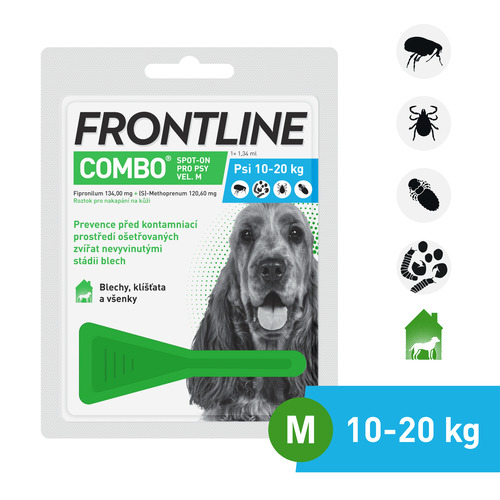 Frontline Combo Spot on Dog M 1×1,34 ml (pes 10–20kg)