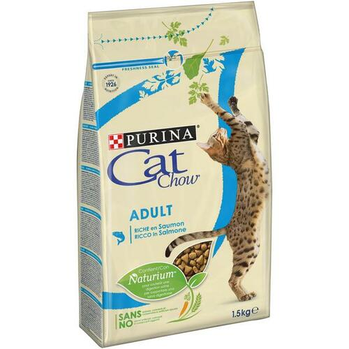 PURINA Cat Chow ADULT tuňák a losos 1,5 kg