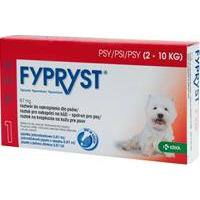 Fypryst spot on a.u.v. S (pes 2–10kg) sol 1×0,67 ml