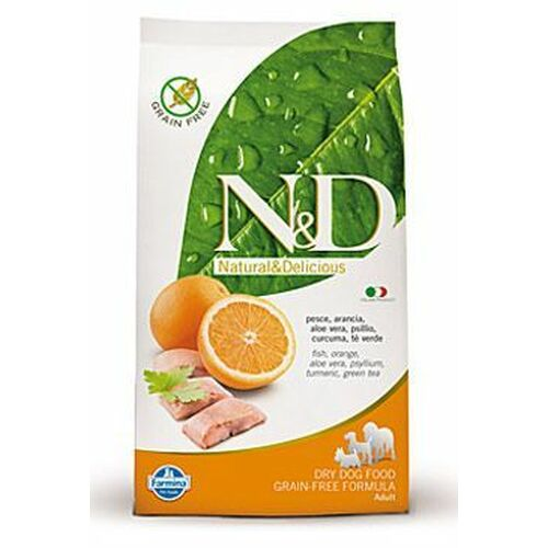 Farmina N & D Grain Free Fish & Orange Adult Dog 12 kg
