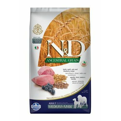 Farmina N & D Low Grain Dog Adult Lamb & Blueberry 12 kg