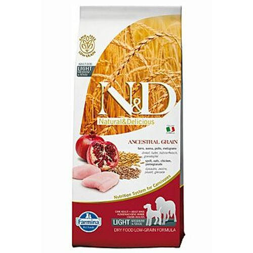 Farmina N & D Low Grain Dog LIGHT M/L Chicken & Pomegranate 12 kg