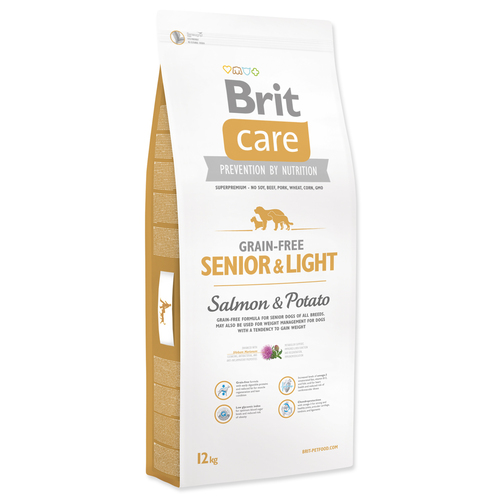 Brit Care Dog Grain-free Senior Salmon & Potato 12 kg