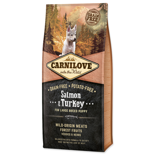 Brit Carnilove Dog Puppy Large Breed Salmon & Turkey 12 kg