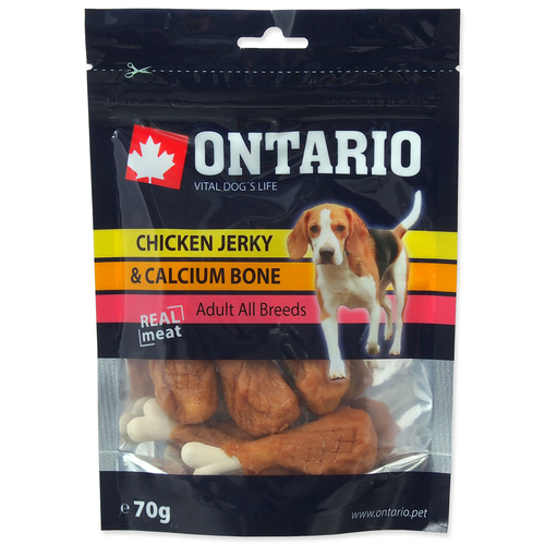 ONTARIO snack Chicken Jerky & Calcium 70g