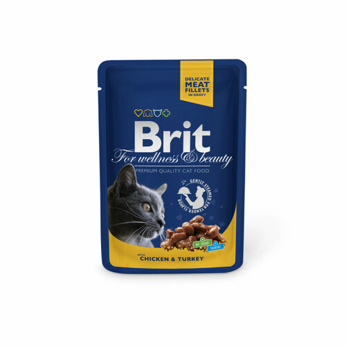 Kapsička BRIT Premium cat chicken & turkey (100g)