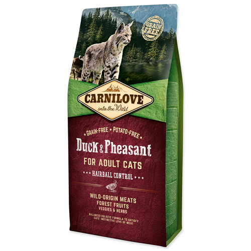 Carnilove Cat Duck&Pheasant Adult Hairball Control 6 kg