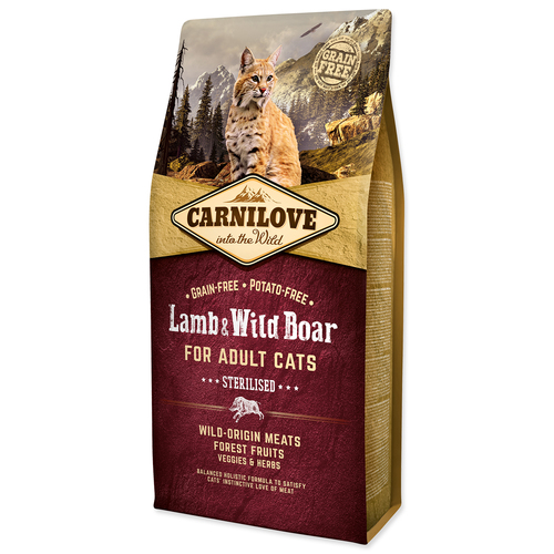 CARNILOVE Lamb and Wild Boar adult cats Sterilised (6kg)
