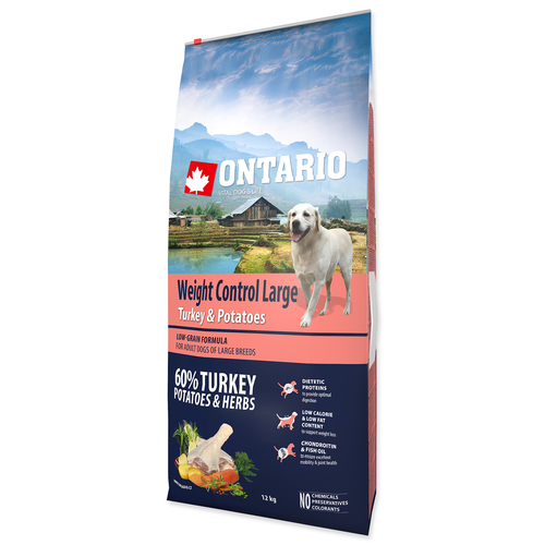 ONTARIO Large Weight Control Turkey & Potatoes & Herbs (12kg)