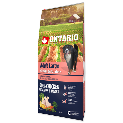 ONTARIO Dog Adult Large Chicken & Potatoes & Herbs (12kg)