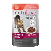 Nutrilove Cat pouch NMP, gravy beef 85 g (sauce)