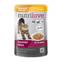 Nutrilove cat pouch NMP, jelly chicken 85g