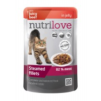 Nutrilove cat pouch NMP, jelly beef 85g