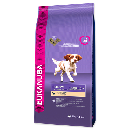 EUKANUBA Puppy & Junior Lamb & Rice (12kg)