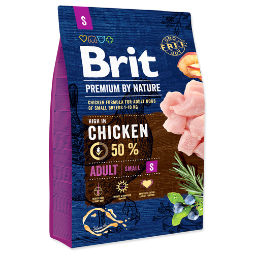 BRIT Premium by Nature Adult S (3kg)