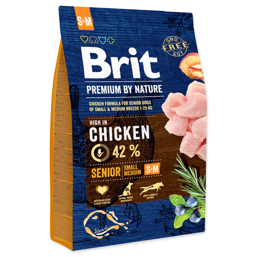 BRIT Premium by Nature Senior S+M (3kg)