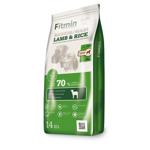 Fitmin Dog medium maxi lamb & rice 14 kg