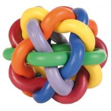 Míč tvrdá guma uzlíkový malý 7cm